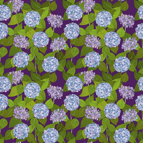 Hydrangea tile purple - medium