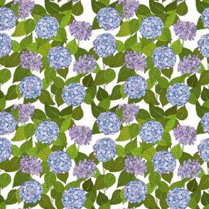 Hydrangea tile white - medium