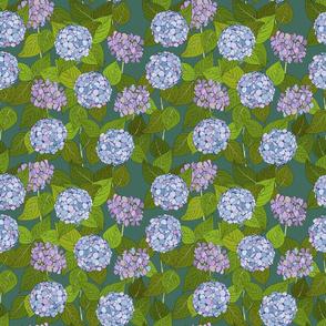 Hydrangea tile Roman glass - medium