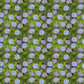 Hydrangea tile grey stripe - small