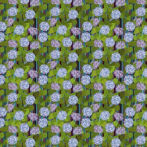 Hydrangea tile orchid stripe - small