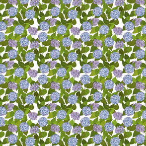 Hydrangea tile white - small