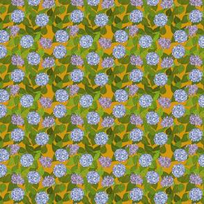 Hydrangea tile mustard - small