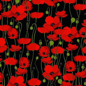 poppy repeat black - medium