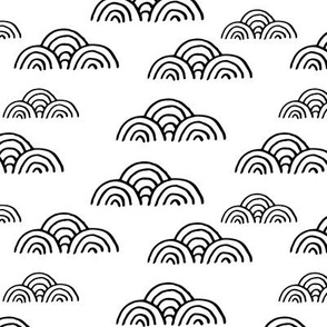 sketchy whaves pattern. clouds in the sky design
