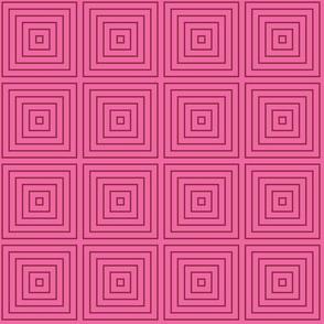 Squared Modern Dark Pink & Red Wine