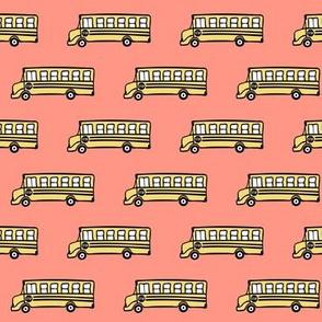 school bus - coral