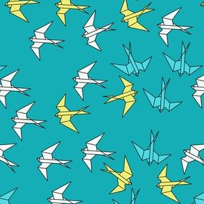 paper_swallows_teal_white_yellow