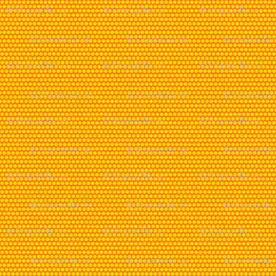 retro spots yellow orange small
