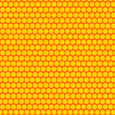 retro spots yellow orange small fabric by scrummy on Spoonflower - custom fabric
