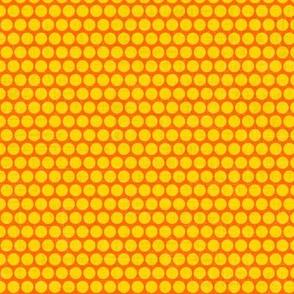 retro spots yellow orange small