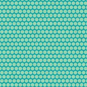 retro spots green blue small