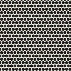retro spot graphite eggshell small