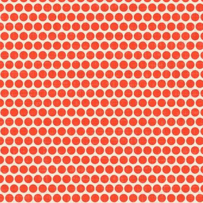 retro spot red eggshell small