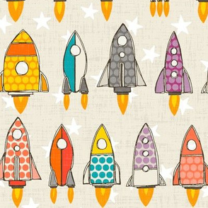 retro rockets eggshell