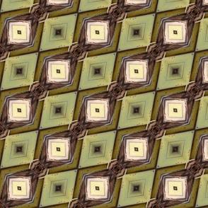 bamboo 1 diagonal diamond moss green beige