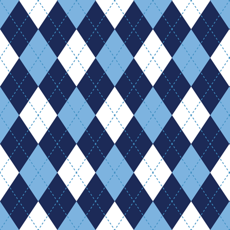 Argyle In Blues fabric by diane555 on Spoonflower - custom fabric
