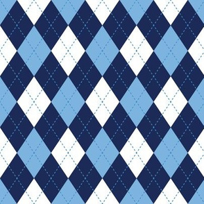 Argyle In Blues