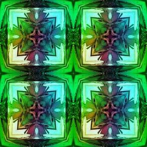 bamboo 5 cross tiles blue aqua green