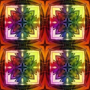 bamboo 5 cross tiles gold orange yellow rainbow autumn