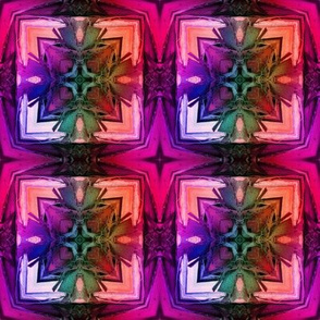 bamboo 5 cross tiles pink purple coral rainbow