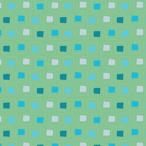 Tiny Pattern Squares Dream of Blue