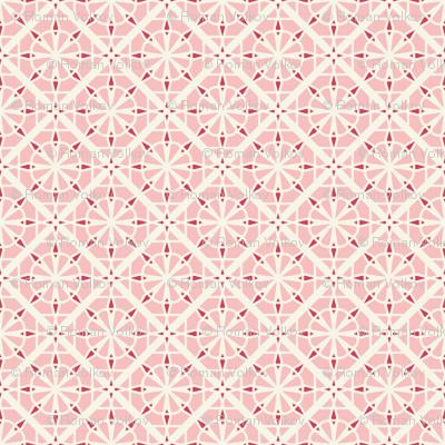 Mosaic Asian Geometric Pattern