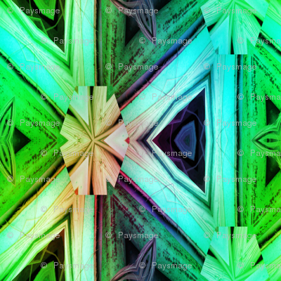 bamboo 10 marquetery triangles blue aqua green