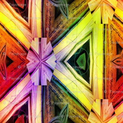 bamboo 10 marquetery triangles gold orange yellow rainbow