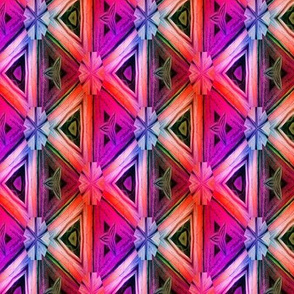 bamboo 10 marquetery triangles pink purple coral rainbow