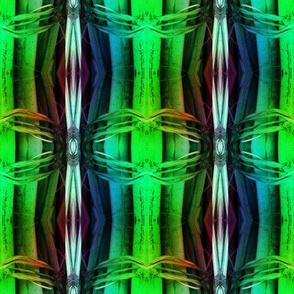 bamboo 12 stripes 2 blue aqua green rainbow