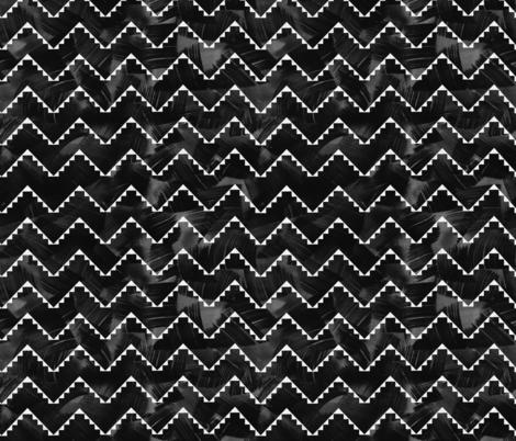 Festival mini chevron black fabric by schatzibrown on Spoonflower - custom fabric