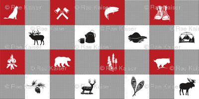 LG Wilderness Buffalo Check Animal RED