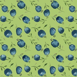 Blueberries by Anna  in green