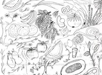 Fruited Coloring page