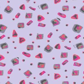Geometric Allover lavender hotpink