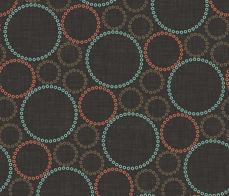 Bubble Machine - mocha fabric by ormolu on Spoonflower - custom fabric