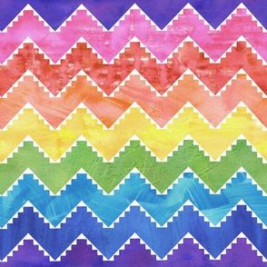 Festival  chevron rainbow 2