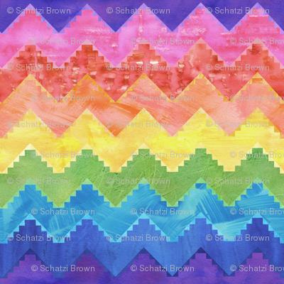 Festival chevron rainbow