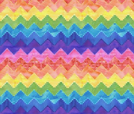 Festival chevron rainbow fabric by schatzibrown on Spoonflower - custom fabric