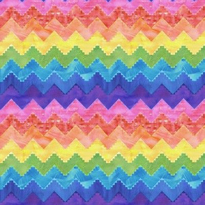 Festival chevron rainbow MINI