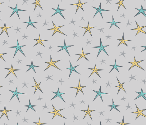 Striped Space Stars (Universe) fabric by brendazapotosky on Spoonflower - custom fabric
