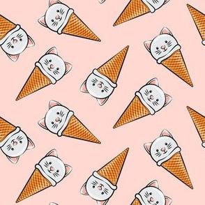 cute cat icecream cones - toss on light pink