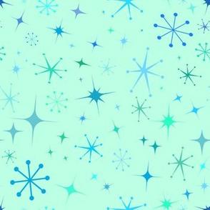Atomic Starry Night in Mod Mint