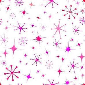 Atomic Starry Night in White + Mod Pink