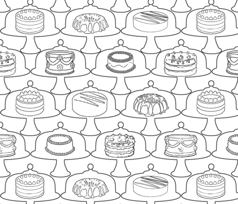 Cake-Coloring Frenzy fabric by anneostroff on Spoonflower - custom fabric