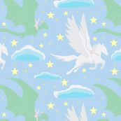 Magic Baby: Pastel,  Mythical Pegasus & Dragon,  Fantasy Baby Nursery