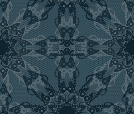 Art Deco Automobiles fabric by studioxtine on Spoonflower - custom fabric