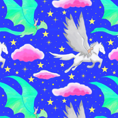 Magic Baby: Neon Mythical, Pegasus & Dragon, Fantasy Nursery