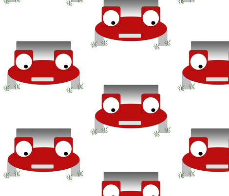 Little Red Car fabric by cleamadethis on Spoonflower - custom fabric